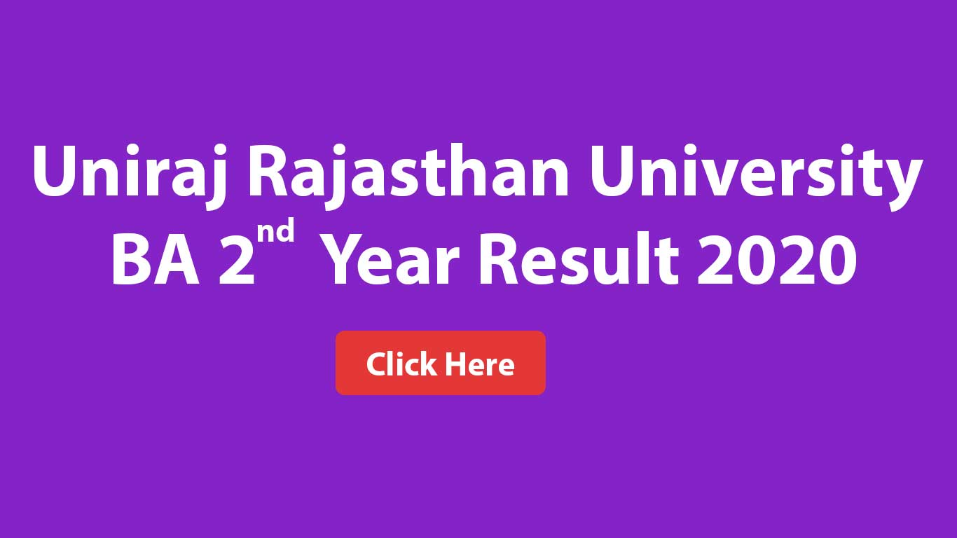 Uniraj Rajasthan University BA 2nd Year Result 2020