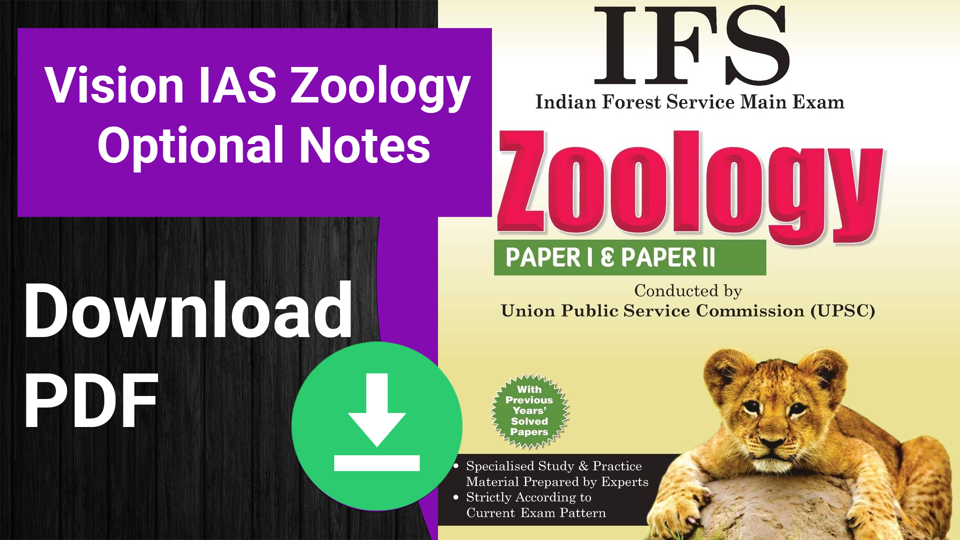 Vision IAS Zoology Optional Notes pdf download